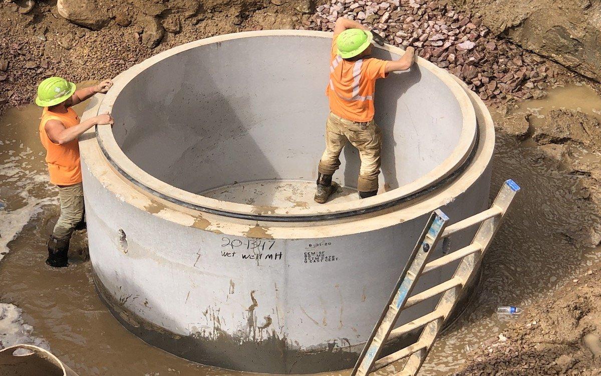 96 inch manhole base