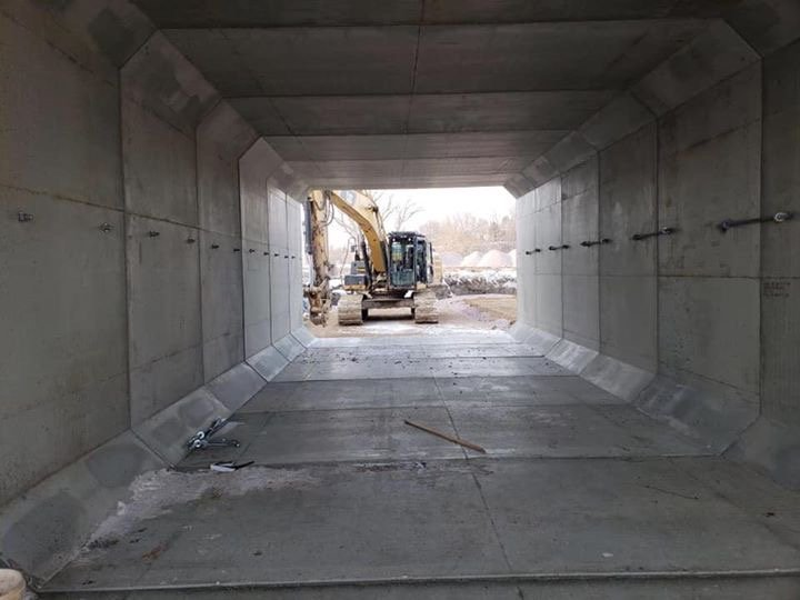 Hartford, SD Mickelson Rd Project. Double run box culverts 11'x10'
