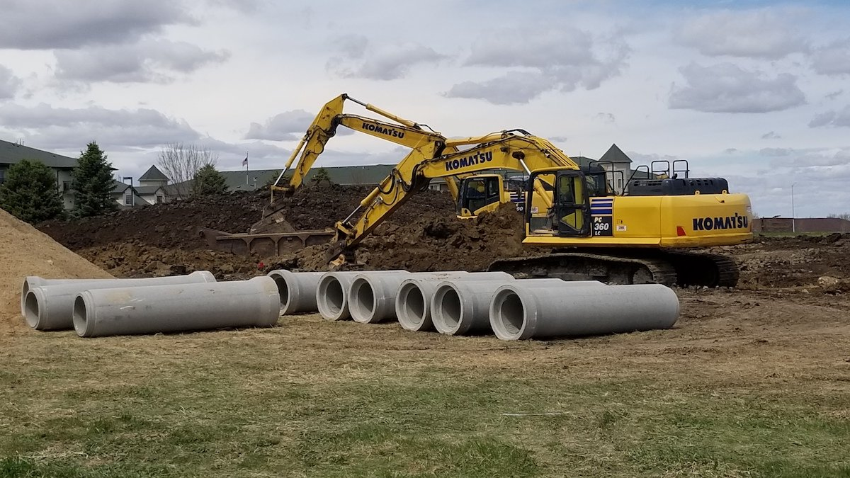 Round RCP 18 inch RCP on job site