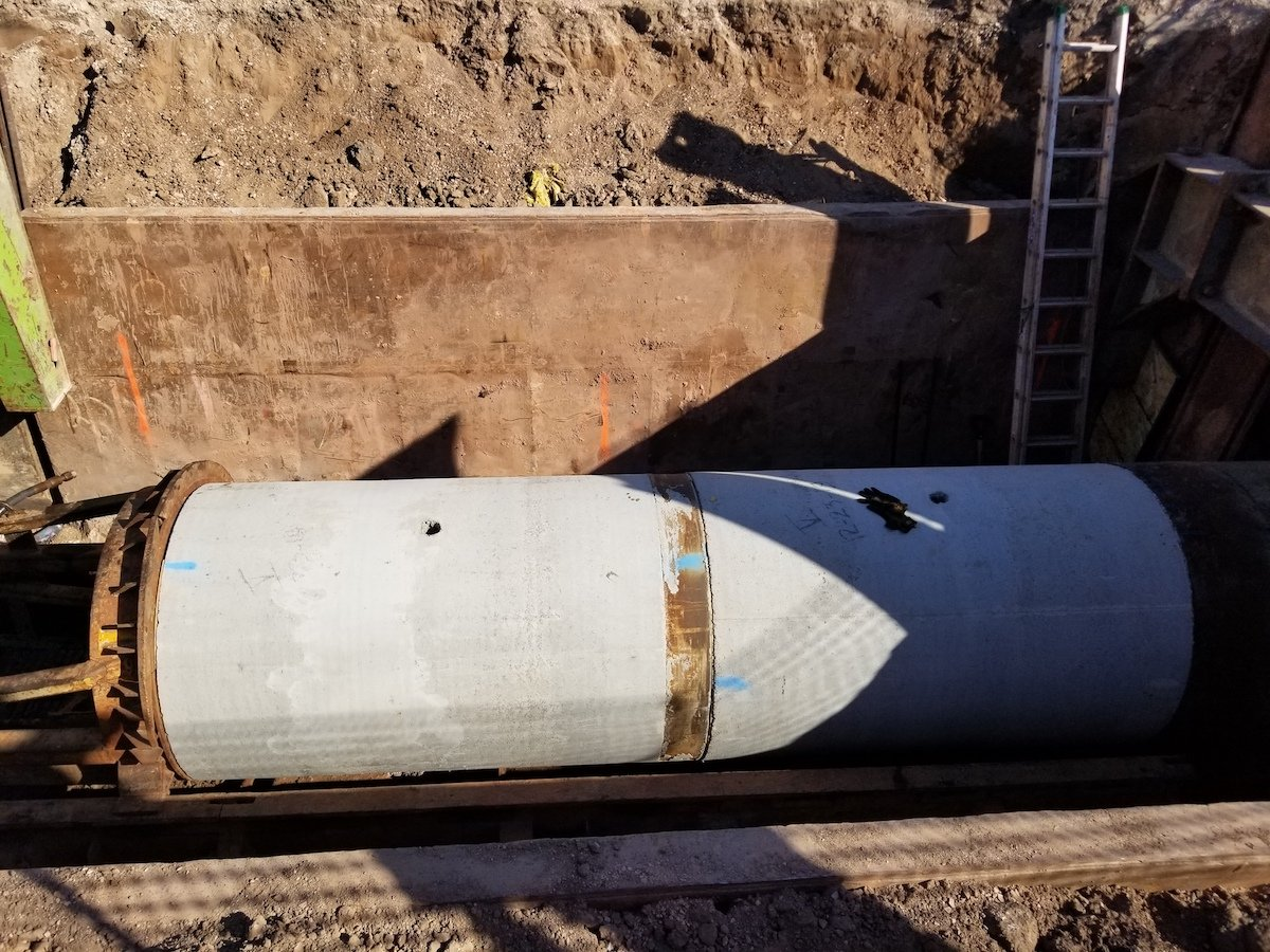 Round RCP jacking pipe 48 inch RCP with external bell band